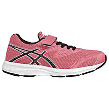 Buy Asics Children's Aplica PS Lace & Riptape Trainers, Pink Online at johnlewis.com