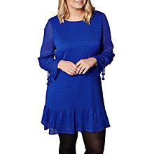 Buy Yumi Curves Dropped Waist Tunic Dress, Cobalt Blue Online at johnlewis.com