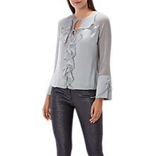 Buy Coast Alicia Ruffle Top, Silver Online at johnlewis.com