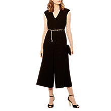 Buy Karen Millen Soft Corsetry Collection Jumpsuit, Black Online at johnlewis.com