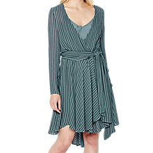 Buy Ghost Anya Wrap Dress, Airforce Blue Online at johnlewis.com