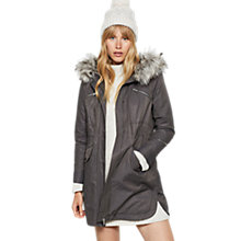 Buy Mint Velvet Metallised Parka Coat, Ash Grey Online at johnlewis.com