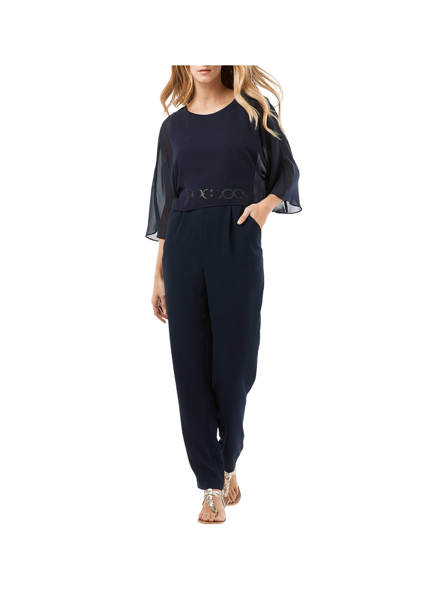 f3985ebb Buy Phase Eight Janessa Jumpsuit, Navy, 6 Online at johnlewis.com ...