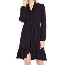 Buy Ghost Zoey Wrap Front Dress, Black Online at johnlewis.com