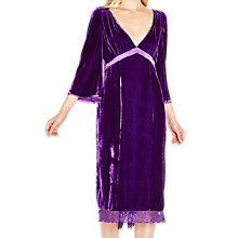 Buy Ghost Kaylee Dress, Bright Purple Online at johnlewis.com