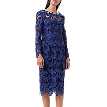 Buy Finery Morgan Lace Cocktail Dress, Blue Online at johnlewis.com