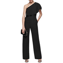 Buy Reiss Callie One Shoulder Jumpsuit, Black Online at johnlewis.com