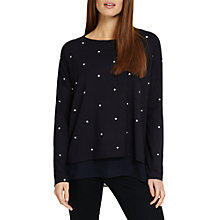 Buy Phase Eight Nova Star Print Top, Midnight/White Online at johnlewis.com