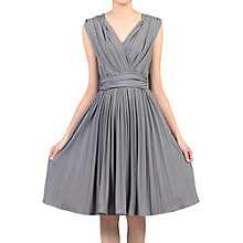Buy Jolie Moi Plunge Neck Pleated Dress Online at johnlewis.com