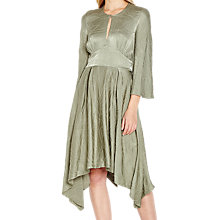 Buy Ghost Lucy Satin Dress, Green Lily Online at johnlewis.com