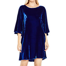 Buy Ghost Rihanne Velvet Dress, Cobalt Blue Online at johnlewis.com