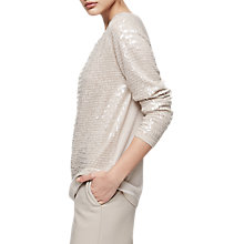 Buy Reiss Gene Sequin Jumper, Neutral Online at johnlewis.com