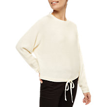 Buy Jaeger Tie Back Slouch Jumper, Ivory Online at johnlewis.com