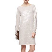 Buy Reiss Kayla Sequinned Dress, Neutral Online at johnlewis.com