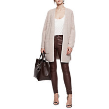 Buy Reiss Luana Ribbed Cardigan, Neutral Online at johnlewis.com