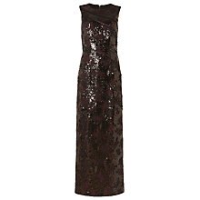 Buy Phase Eight Collection 8 Bernadette Embellished Full Length Dress, Merlot/Black Online at johnlewis.com