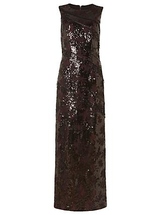 Phase Eight Collection 8 Bernadette Embellished Full Length Dress, Merlot/Black