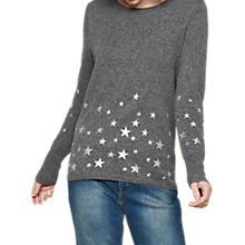 Buy Mint Velvet Scattered Star Jumper, Dark Grey Online at johnlewis.com