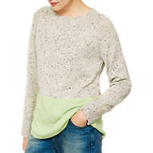 Buy Mint Velvet Blocked Knitted Jumper, Grey/Lime Online at johnlewis.com