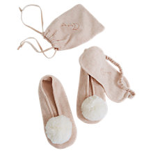 Buy Hygge by Mint Velvet Pom Pom Slipper & Eye Mask Set, Light Pink Online at johnlewis.com