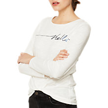 Buy Mint Velvet Stellar Long Sleeve T-Shirt, Ivory Online at johnlewis.com