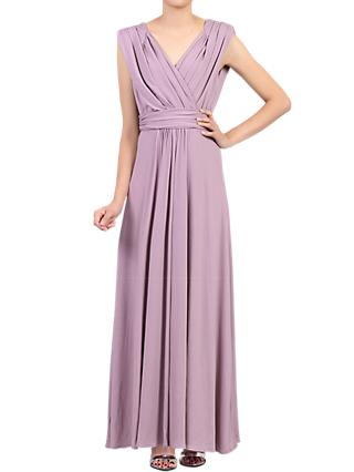 Jolie Moi Plunge Neck Draped Maxi Dress