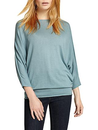Phase Eight Becca Batwing Jumper, Sage Green