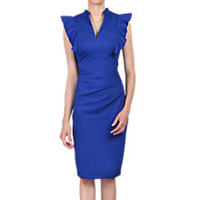 Buy Jolie Moi Ruffle Shoulder Bodycon Dress, Royal Blue Online at johnlewis.com
