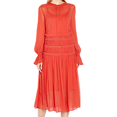 Ghost Sadie Midi Dress, Orange