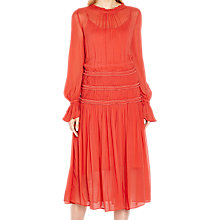 Buy Ghost Sadie Midi Dress, Orange Online at johnlewis.com