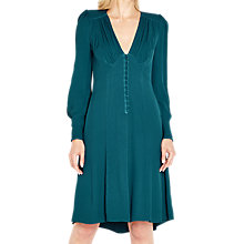 Buy Ghost Kennedy Dress, Teal Green Online at johnlewis.com