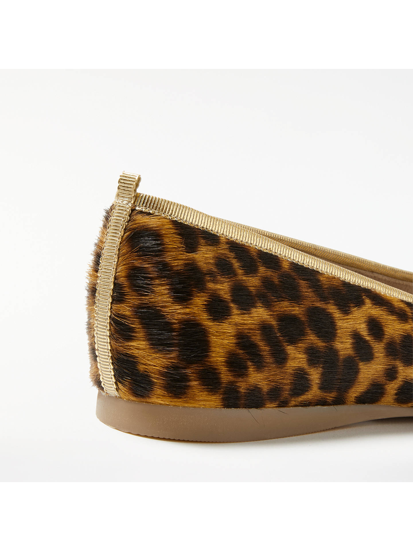 BuyBoden Ballerina Pumps, Leopard Leather, 4 Online at johnlewis.com