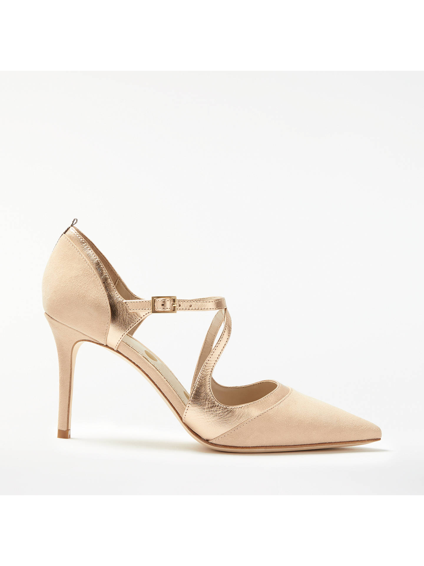 Buy Boden Tisha Pointed Toe Court Shoes, Soft Rose Leather/Suede, 4 Online at johnlewis.com