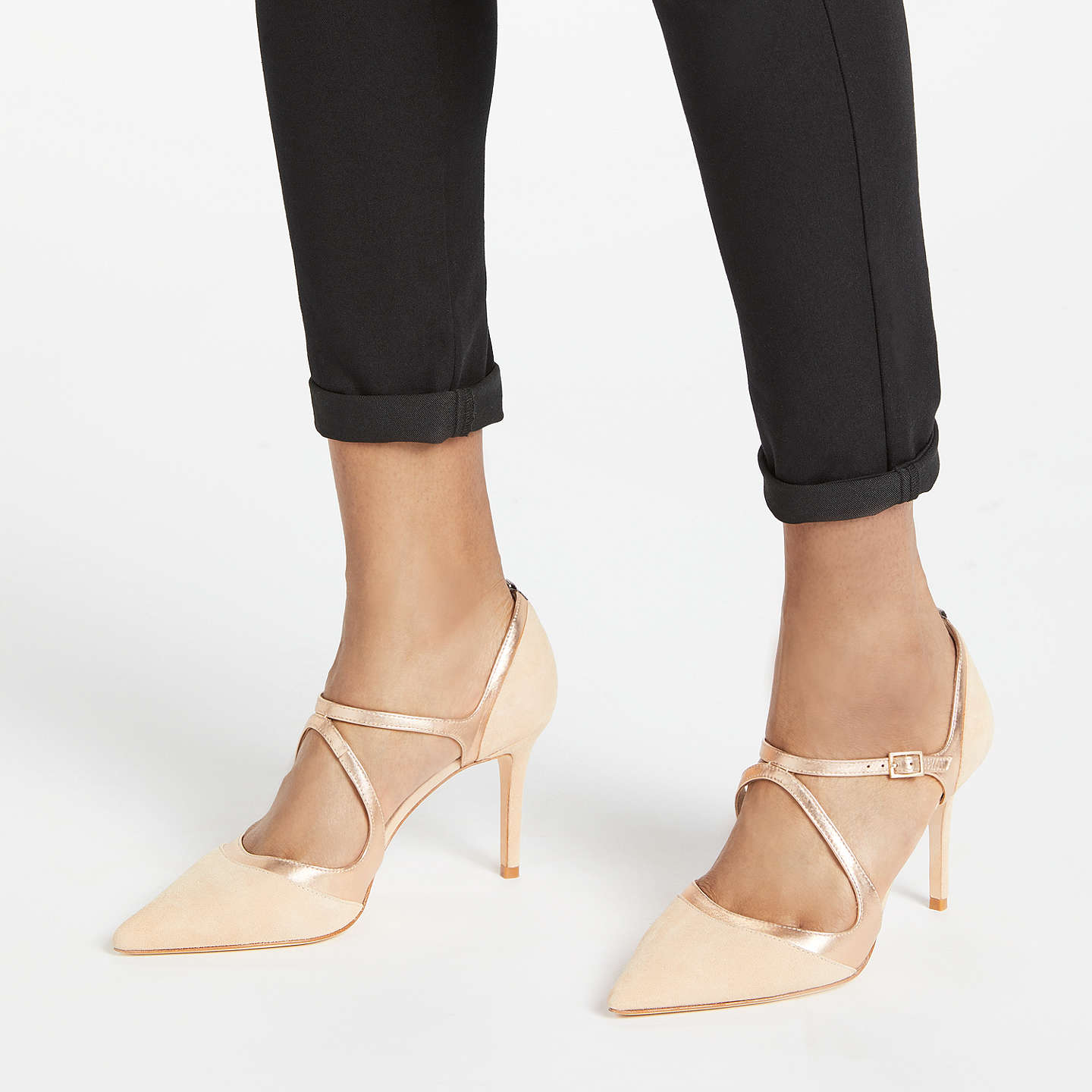 BuyBoden Tisha Pointed Toe Court Shoes, Soft Rose Leather/Suede, 5 Online at johnlewis.com