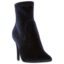 Buy Dune Ormand Glitter Stiletto Heeled Ankle Boots, Navy Online at johnlewis.com