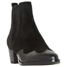 Buy Dune Papio Western Ankle Boots, Black Suede Online at johnlewis.com