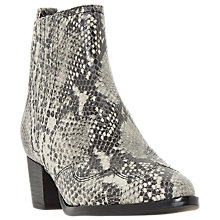 Buy Dune Papio Western Ankle Boots, Natural Leather Online at johnlewis.com