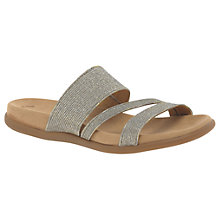 Buy Gabor Tomcat 2 Slip On Sandals, Gold Online at johnlewis.com