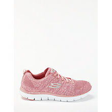 Buy Skechers Sport Flex Appeal 2.0 Trainers, Pink Online at johnlewis.com