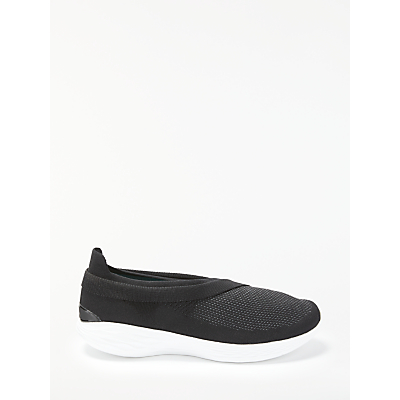 Skechers You Luxe Slip On Trainers, Black/White