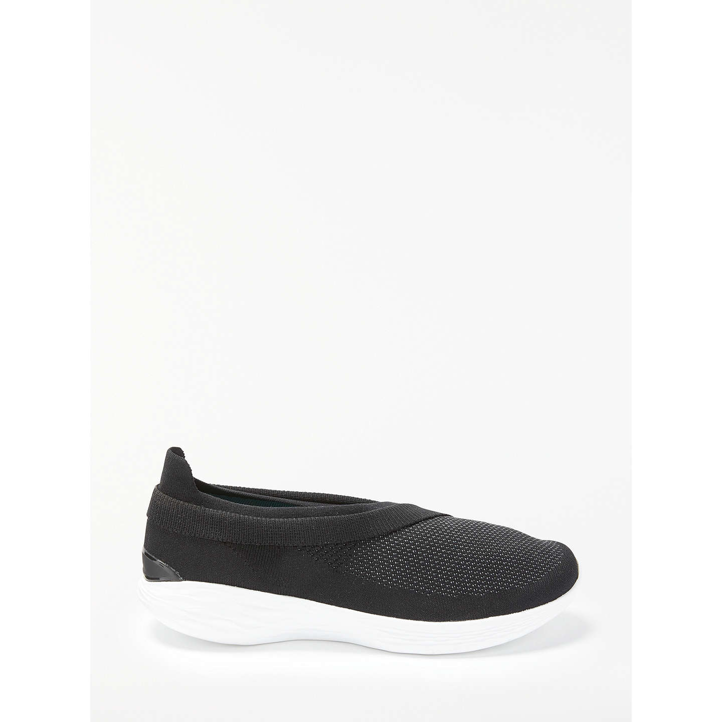 BuySkechers You Luxe Slip On Trainers, Black/White, 3 Online at johnlewis.