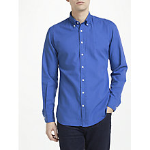 Buy Hackett London Garment Dye Oxford Slim Shirt, Sea Blue Online at johnlewis.com