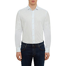 Buy Hackett London Wave Print Shirt, Blue/White Online at johnlewis.com