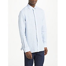 Buy Hackett London Striped Linen Long Sleeve Shirt Online at johnlewis.com