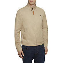 Buy Hackett London Mr Classic Harrington Jacket, Sand Online at johnlewis.com