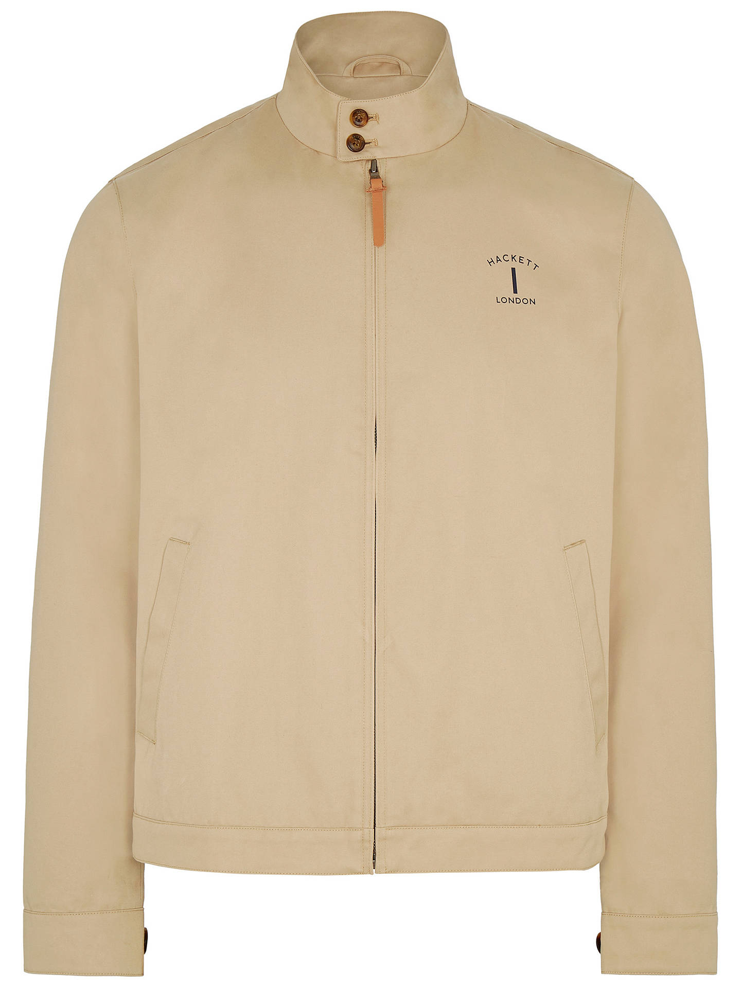 Buy Hackett London Mr Classic Harrington Jacket, Sand, S Online at johnlewis.com