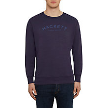 Buy Hackett London Mr Classic Crew Neck Sweatshirt, Ink Blue Online at johnlewis.com
