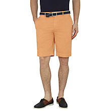 Buy Hackett London Stretch Cotton Shorts, Faded Orange Online at johnlewis.com