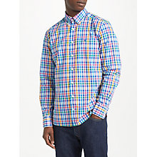 Buy Hackett London Long Sleeve Slim Fit Gingham Shirt, Blue Multi Online at johnlewis.com