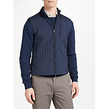 Buy Hackett London Channel Zip Through Gilet, Navy Online at johnlewis.com